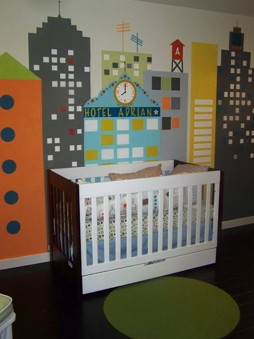 baby room ideas for wall mural
