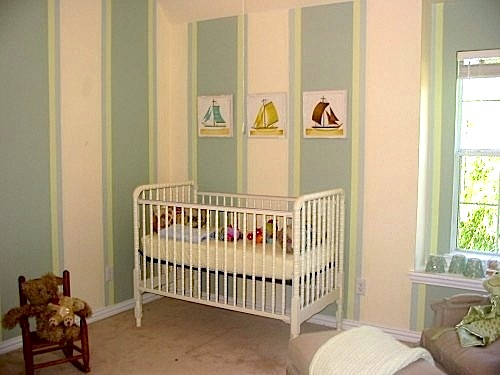 baby room ideas for paint with striped walls
