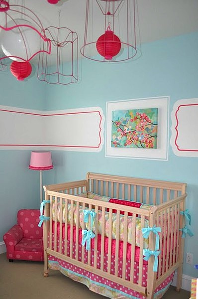 baby nursery ideas for paintings of flowers on nursery walls