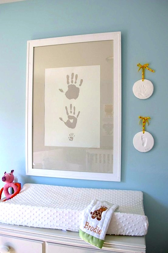 baby room ideas for nursery artwork of baby footprint