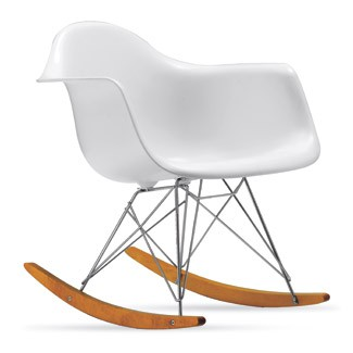 Modern Rocking Chair For Nursery Design With Eames Molded Plastic