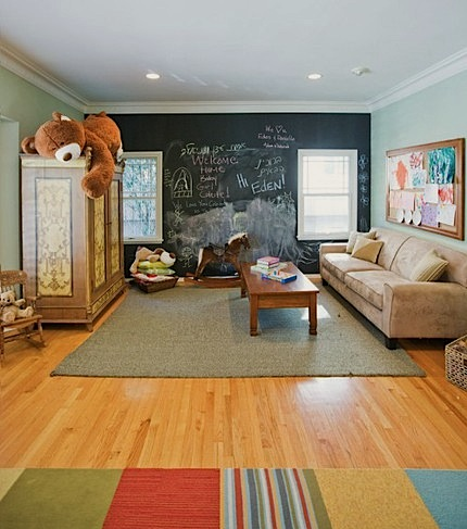 kids room design with ideas for chalk board paint