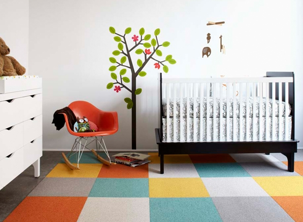 Eames Molded Plastic Rocking Chair in the Nursery