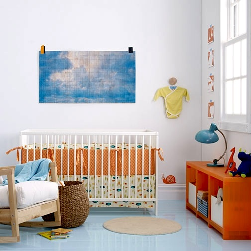 modern rocking chair in baby nursery design room