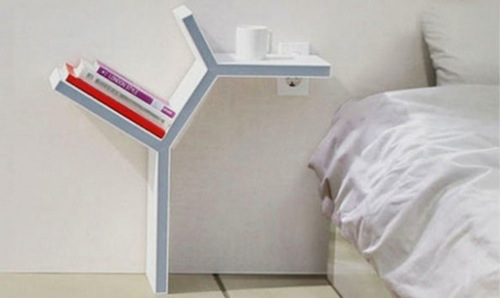 nightstand with light for teenager room ideas