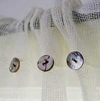 kids room curtain idea with button on sheer