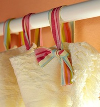 girls room curtain ideas with ribbon tie top