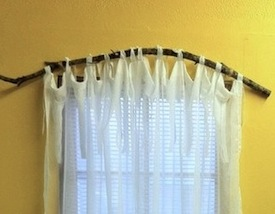 teen room window idea with loop top curtain hanging on tree branch