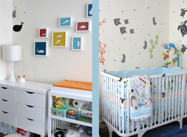 ideas for baby nursery with eco-friendly furniture and organic quilt