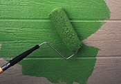 green paint on wall