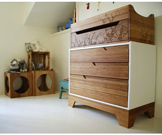 Eco Friendly Baby Nursery With Changing Dresser From Kalon Studios