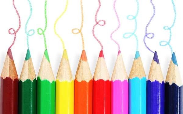 colored pencils for kids wall art