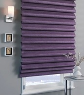 soft pleated roman shade