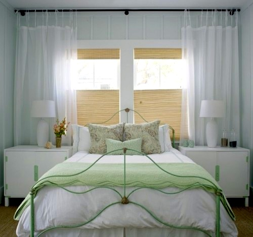 teen girl room idea for window treatment with bottom up roman shade