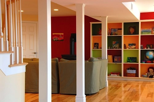 storage ideas and family room floor