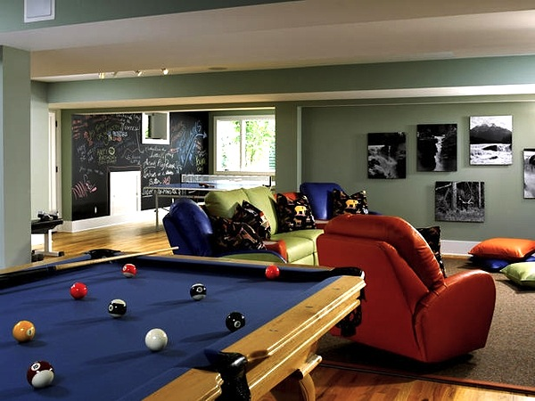 Family room design tweens to teens - Family game room ideas ...