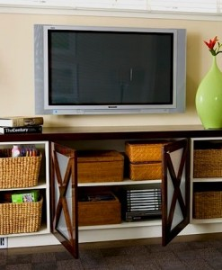 family room storage ideas for video game components