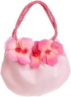 girls pink purse with flowers