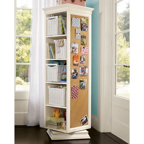 rotating cabinet from pb teen for kids room storage idea