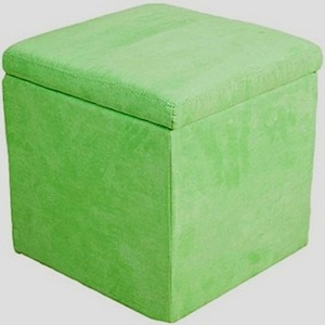 kids room storage idea with storage ottoman in microfiber fabric