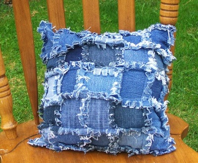 recycle kids jeans ideas into throw pillows