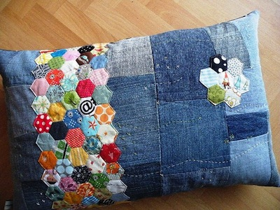 how to recycle kids jeans into pillows