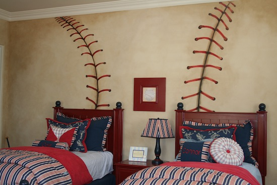 Boys Baseball Theme Room