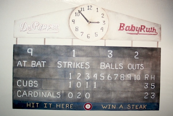 lisa desantis of art of walls vintage baseball scoreboard mural for boys bedroom ideas