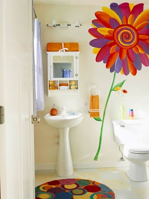 Kids Bathroom Walls Gone Artsy KidSpace Interiors