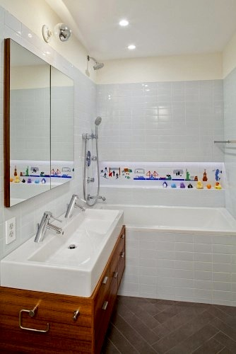 trough sink for kids bathroom with kid friendly faucet
