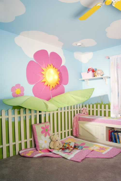 Wood And Paint Wall Treatment In Kids Playroom Part 22