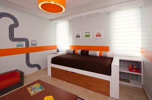 boys room painted wall ideas with cars and roads