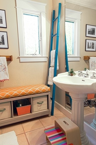 shared bathroom for adults and kids