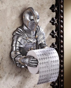knight in armour toilet paper holder for kids bathroom accessory