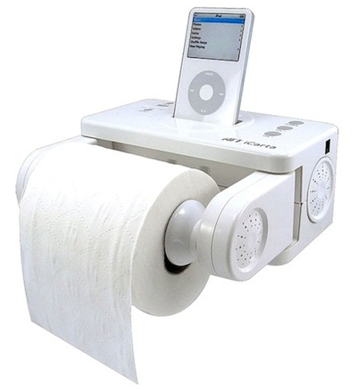 teen bathroom accessory with toilet paper holder ipod player