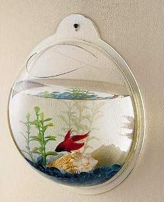 kids bathroom accessory with wall mount fish bowl