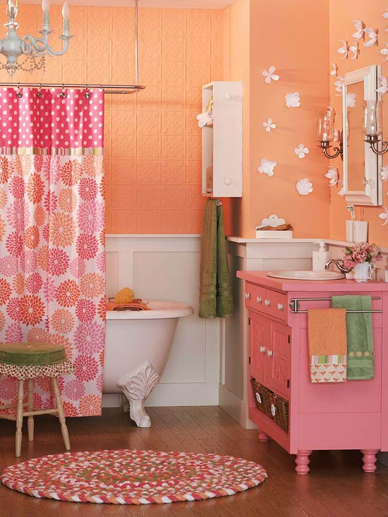 outstanding kids bathroom color | Trendy Colorful Kids' Bathrooms