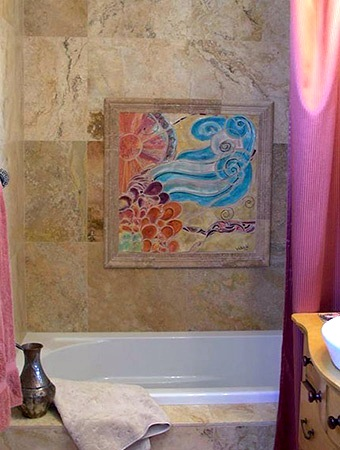 kids bathroom art ideas