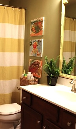 kids bathroom art ideas with kids paintings on canvas