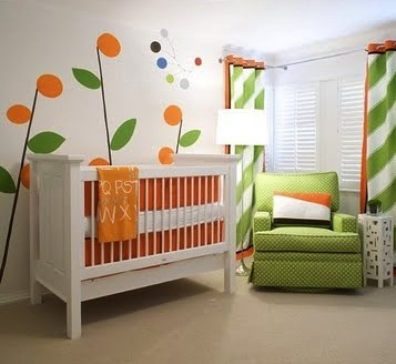 painted mural wall art for baby nursery