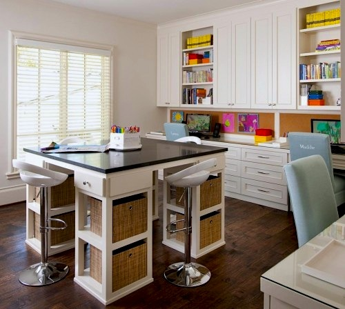 kids activity center with large worksurface and storage below