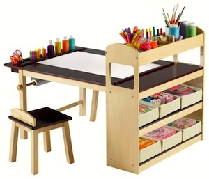 art center table with storage for kids activity center