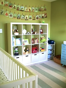 Attirant Storage Cube Unit For Baby Nursery Room
