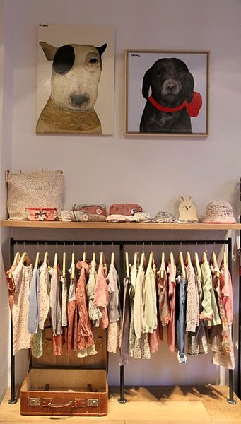 frugal nursery design ideas with clothing rack for baby clothes