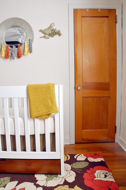 eclectic nursery design for frugal nursery