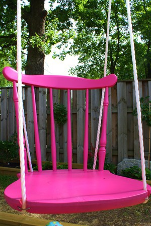 broken chair recycling ideas for kids swing seat