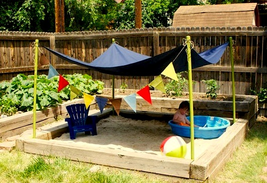 Backyard Sandbox : Kids Backyard Sandbox Fun  KidSpace Interiors