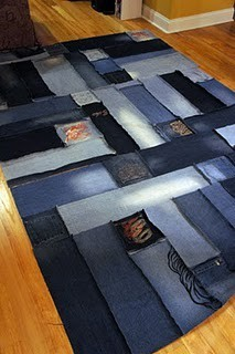 rug made from recycled blue jeans