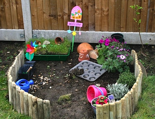 backyard activity center ideas for kids with mini garden - Backyard Garden Ideas For Kids