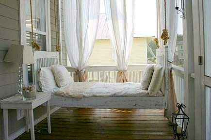 Curtains Ideas curtains for screened in porch : Sleeping on the Screened Porch | KidSpace Interiors